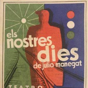 1955 Teatro Romea. Programa de mano. Els nostres dies 9,8x13,9 cm
