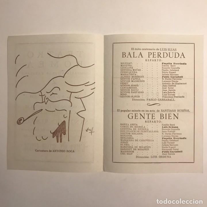 Coleccionismo: 1951 Teatro Romea. Programa de mano. L'auca del Senyor Esteve 13,8x19 cm - Foto 3 - 153227822