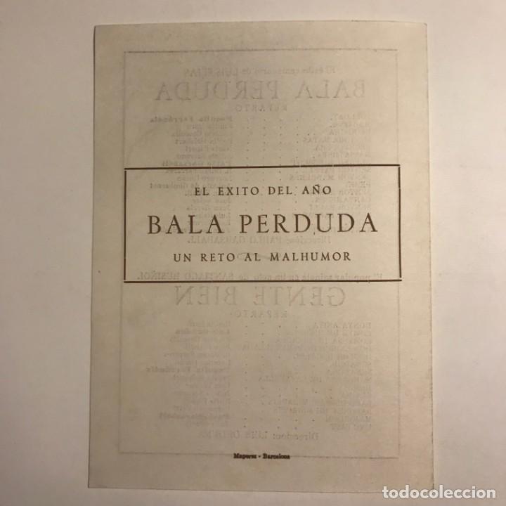 Coleccionismo: 1951 Teatro Romea. Programa de mano. L'auca del Senyor Esteve 13,8x19 cm - Foto 4 - 153227822