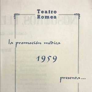 1957 Teatro Romea. Programa de mano. Nosotros, ellas y el duende 10,8x15,6 cm