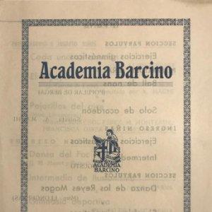 1952 Teatro Romea. Programa de mano. Academia Barcino. Festival Fin de Curso 1951-52. 14x20,3 cm