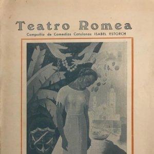 1948 Teatro Romea. Programa de mano. Blancanegra de Luis Elias 17,5x24,5 cm