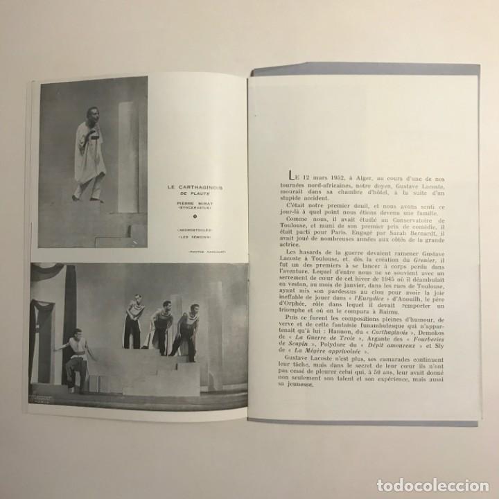 Coleccionismo: 1951 Teatro Romea. Programa de mano. Le Grenier de Toulouse 13,5x20 cm - Foto 3 - 153239698
