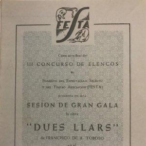 1955 Teatro Romea. Programa de mano. Dues llars 14x20 cm