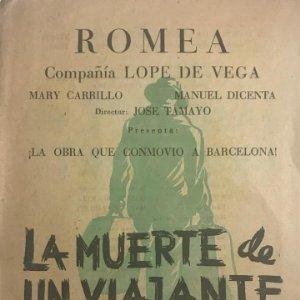 Teatro Romea. Programa de mano. La muerte de un viajante 16,1x22,3 cm