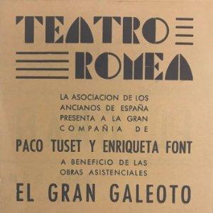 1950 Teatro Romea. Programa de mano. El gran galeoto 11,1x16 cm
