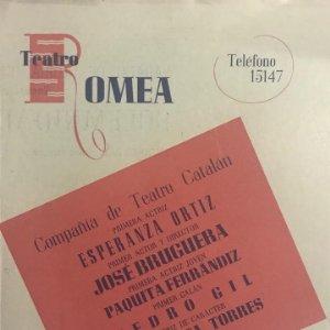 1947 Teatro Romea. Programa de mano. La fortuna de Sílvia 13,3x17,6 cm