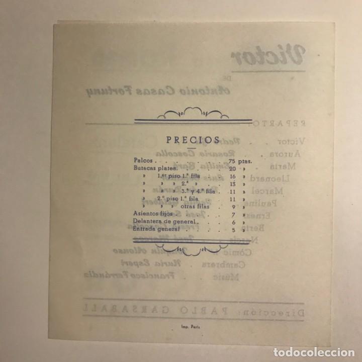 Coleccionismo: 1950 Teatro Romea. Programa de mano. Victor 13,8x15,9 cm - Foto 4 - 153268110