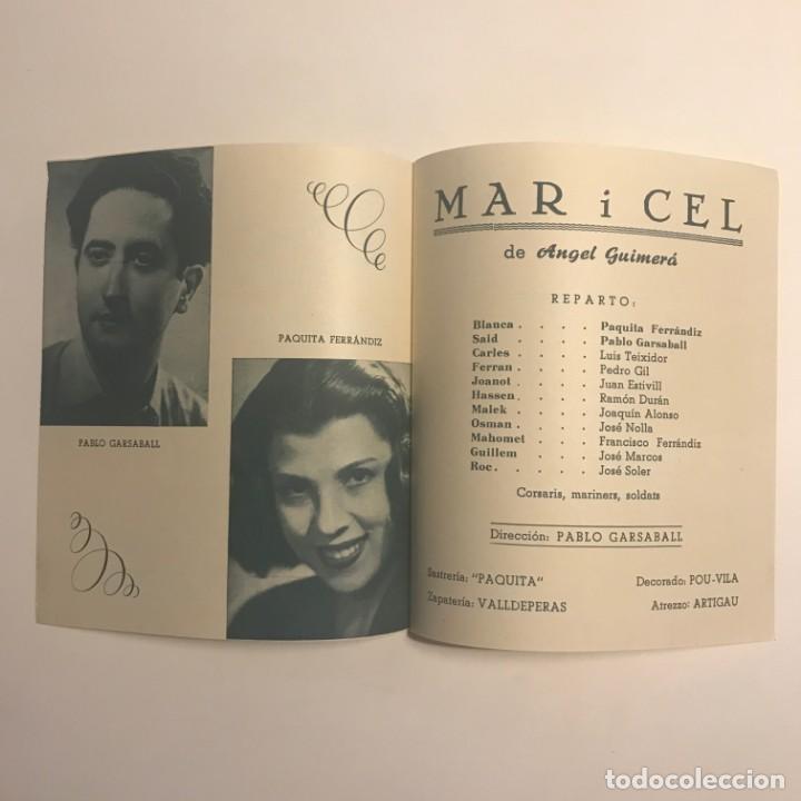 Coleccionismo: 1950 Teatro Romea. Programa de mano. Mar i Cel 13,8x15,9 cm - Foto 3 - 153268338