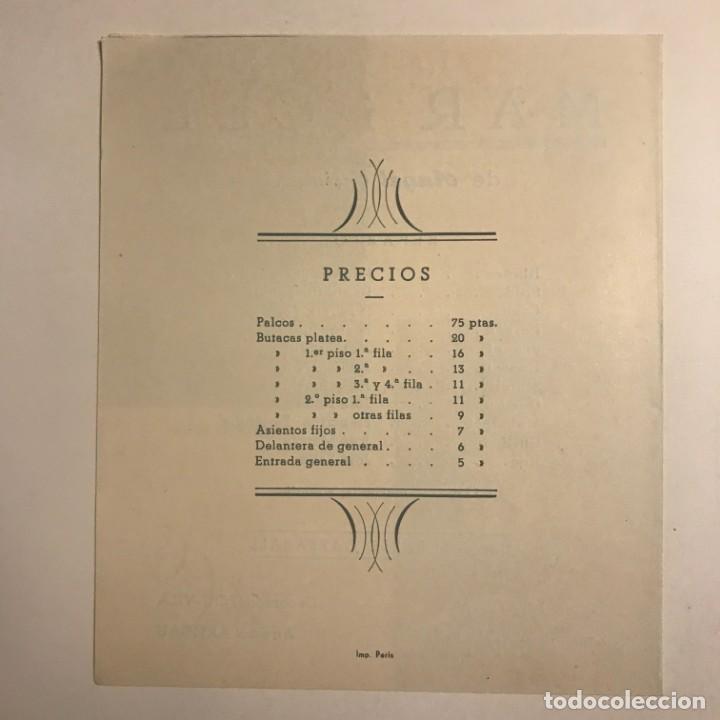 Coleccionismo: 1950 Teatro Romea. Programa de mano. Mar i Cel 13,8x15,9 cm - Foto 4 - 153268338