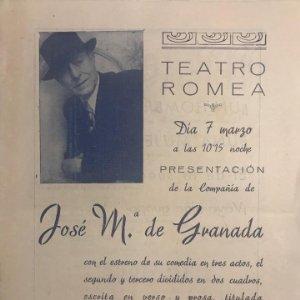 Teatro Romea. Programa de mano. ¡¡¡Un hombre!!! 15,9x22 cm