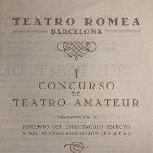 Teatro Romea. El port de les boires 13,8x19,5 cm