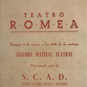 Teatro Romea. Baltasar 13,8x19,5 cm