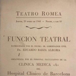 1948 Teatro Romea. L'hereu escampa. La sala és plena! 12,3x16,5 cm