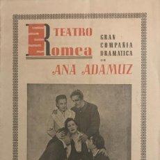 Coleccionismo: TEATRO ROMEA. PROGRAMA DE MANO. MADRE PAZ. GRAN COMPAÑÍA DRAMÁTICA ANA ADAMUZ. Lote 153272534