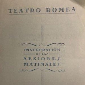 1952 Teatro Romea. Programa de mano. El germà inventor. Miguel Olle. La hormiga Martinense