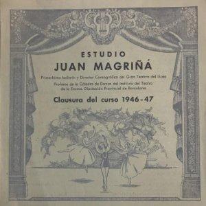 1947 Teatro Romea. Programa de mano. El hada de las muñecas. Juan Magriñá 16,5x21,6 cm