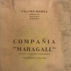 Coleccionismo: 1956 TEATRO ROMEA. PROGRAMA DE MANO. VENDAVAL. COMPAÑÍA MARAGALL. Lote 153272906