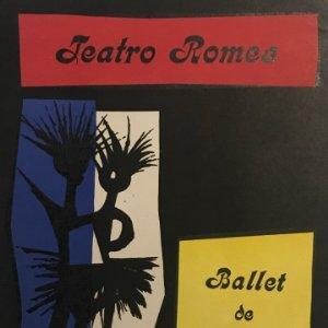 1954 Teatro Romea. Programa de mano. Ballet de Juan Tena