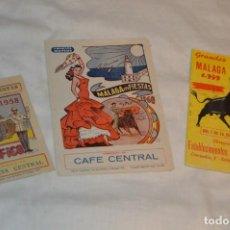 Coleccionismo: VINTAGE - LOTE DE 3 PROGRAMAS / FOLLETOS DE MANO DE MALAGA EN FIESTAS - AÑOS 50 Y 60 - ¡MIRA FOTOS!. Lote 153397290