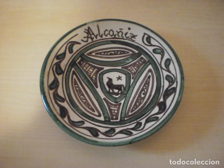 PLATO DECORADO - CERÁMICA PUNTER - ALCAÑIZ (TERUEL) (Coleccionismo - Varios)