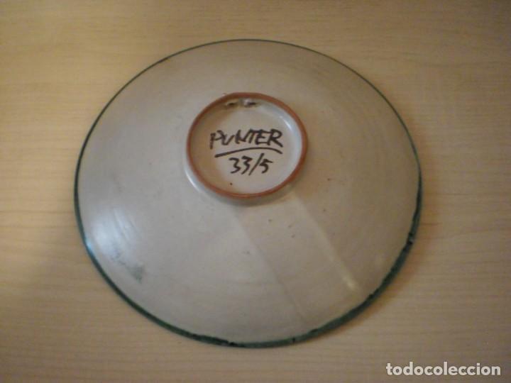 Coleccionismo: Plato decorado - Cerámica Punter - Alcañiz (Teruel) - Foto 2 - 153536886