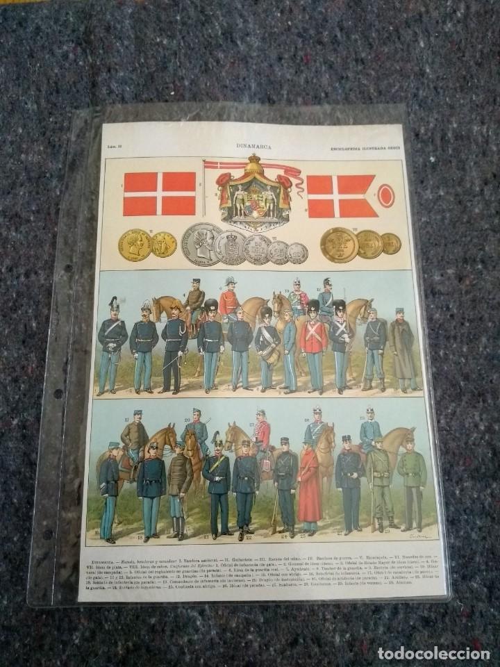 Coleccionismo: Enciclopedia Ilustrada Seguí - Dinamarca Láminas I y II - Foto 2 - 153549274