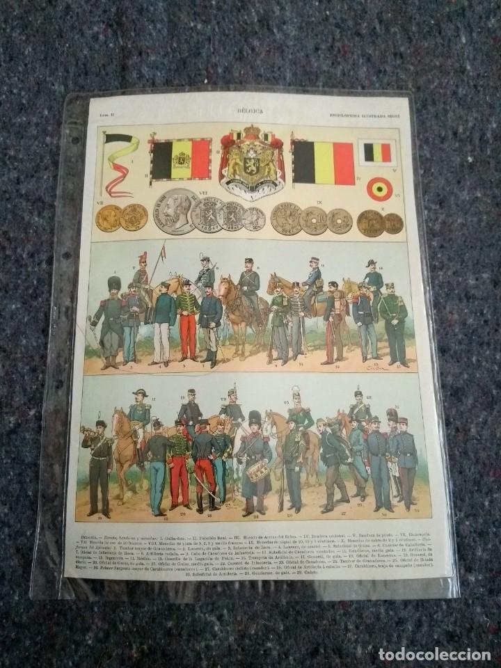 Coleccionismo: Enciclopedia Ilustrada Seguí - Bélgica Láminas I y II - Foto 2 - 153549442