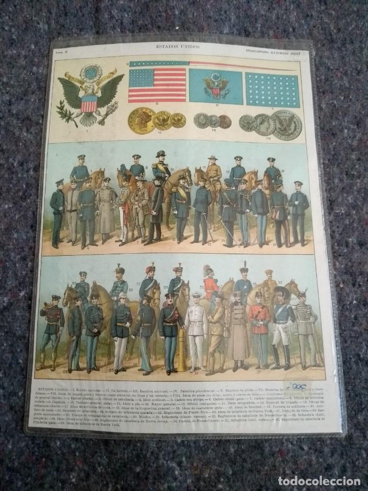Coleccionismo: Enciclopedia Ilustrada Seguí - Estados Unidos Láminas I y II - Foto 2 - 153549514