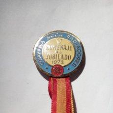 Coleccionismo: MEDALLA DE COMPAÑÍA ROCA DE RADIADORES HOMENAJE AL JUBILADO 1973. Lote 153572454