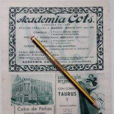 Coleccionismo: HOJA DE BLANCO Y NEGRO, CON PUBLICIDAD (MADRID, ASTURIAS) 1934. Lote 153604536