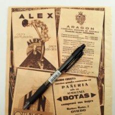 Coleccionismo: HOJA CON PUBLICIDAD. (MADRID, OVIEDO) 1934. Lote 153641124
