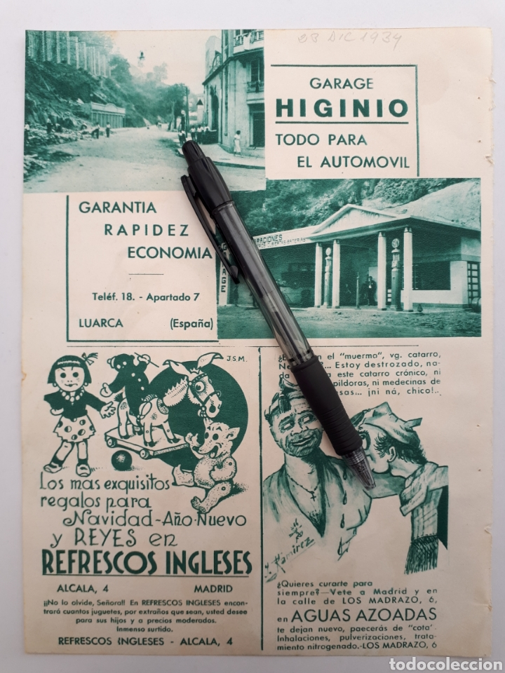HOJA CON PUBLICIDAD PATRIÓTICA (ASTURIAS, MADRID) 1934 (Coleccionismo - Laminas, Programas y Otros Documentos)