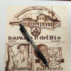 Coleccionismo: ASTURIAS. HOJA CON PUBLICIDAD (LUARCA, LUANCO, GIJÓN) 1934. Lote 153656070