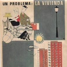 Coleccionismo - AÑO 1955 RECORTE PRENSA PUBLICIDAD SACONIA EMPRESA CONSTRUCTORA VIVIENDA - 153735254
