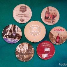 Coleccionismo: CAJA METAL 6 POSAVASOS CHIMAY. Lote 153888266