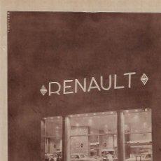 Coleccionismo: AÑO 1955 RECORTE PRENSA PUBLICIDAD CONCESIONARIO RENAULT PASEO DE RECOLETOS MADRID. Lote 153889530
