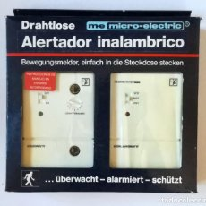Coleccionismo: ALARMA-ALERTADOR INHALAMBRICO- M-E MICRO-ELECTRIC. Lote 154022966