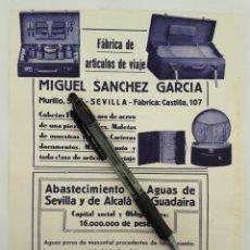 Coleccionismo: SEVILLA. HOJA CON PUBLICIDAD. 1934. Lote 154238556