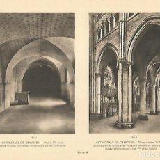 Coleccionismo: LAMINA 12926: CATEDRAL DE CHARTRES CRIPTA E INTERIOR. Lote 154508194