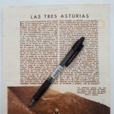 Coleccionismo: LAS TRES ASTURIAS / PUBLICIDAD. 1934. Lote 154759197