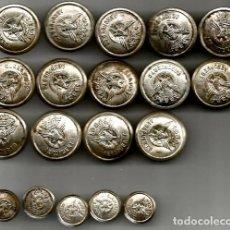 Coleccionismo: 19 ANTIGUOS BOTONES AEROPUERTO AVIACION. Lote 154932066
