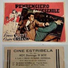 Coleccionismo: PROGRAMA DE MANO - CINE ESTRIBELA DE PONTEVEDRA. Lote 155114594