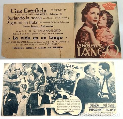 PROGRAMA DE MANO - CINE ESTRIBELA DE PONTEVEDRA (Coleccionismo - Laminas, Programas y Otros Documentos)