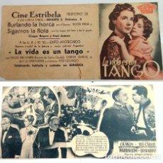 Coleccionismo: PROGRAMA DE MANO - CINE ESTRIBELA DE PONTEVEDRA. Lote 155114894