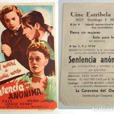 Coleccionismo: PROGRAMA DE CINE - CINE ESTRIBELA DE PONTEVEDRA. Lote 155116718