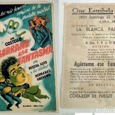 Coleccionismo: PROGRAMA DE CINE - CINE ESTRIBELA DE PONTEVEDRA. Lote 155117814