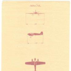 Coleccionismo: LAMINA DIBUJO AVION - GOTHA 146. Lote 155222562