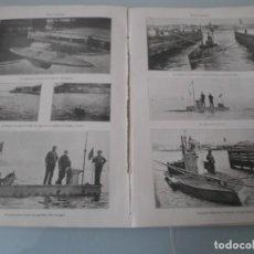 Coleccionismo: LÁMINA SALVAT .- 13 ANTIGUAS FOTOS DE SUBMARINOS - 4 PÁGINAS. Lote 155269926
