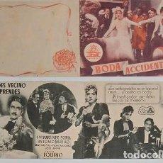 Coleccionismo: PROGRAMA DE CINE DE MANO BODA ACCIDENTADA. Lote 155272110